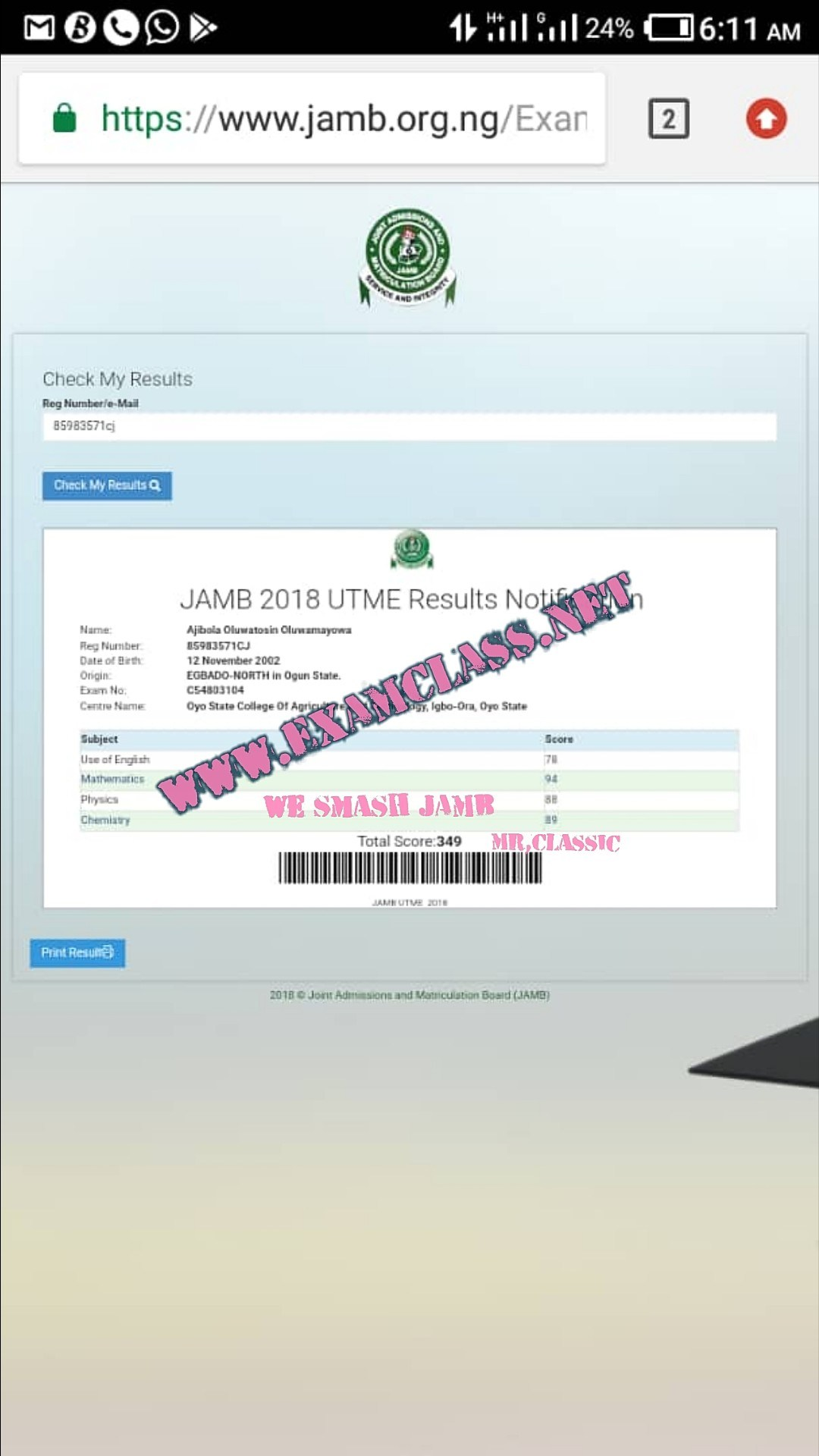 2019 BEST JAMB QUESTIONS & ANSWERS EXPO RUNS CHOKES UTME SITE-SCORE 320+